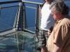 Gläserne Aussichtsplattform 580 m über dem Meer
